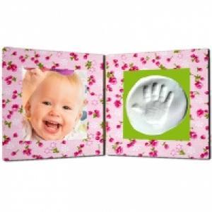Cadre photo souvenir d'empreinte bébé