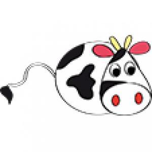 Modèle de vache pour cadre champêtre
