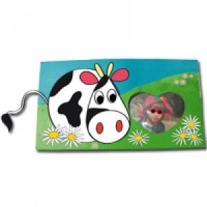Cadre photo à la petite vache