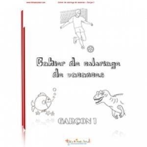 Cahier coloriages vacances garçon 1