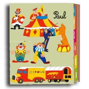 Cahier de texte décoré de gommettes cirque