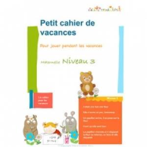 Cahier de Vacances maternelle niveau 3