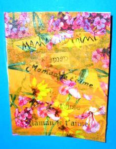 Cahier décoré pour la fête des mères