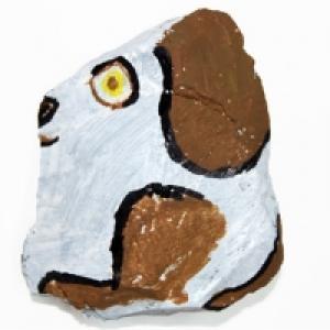 caillou peint: chien