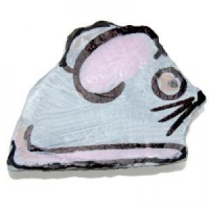souris peinte sur caillou caillou peint: une souris blanche