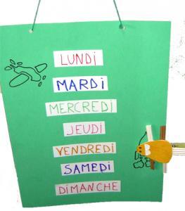 Réaliser un semainier pour apprendre aux enfants les jours de la semaine