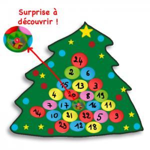 Activité pour préparer un calendrier de l'Avent pour aider les enfants à attendre la fête de Noël et les cadeaux du Père Noël.