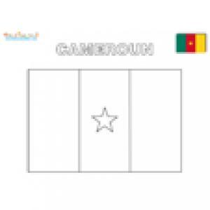 Coloriage du drapeau du Cameroun