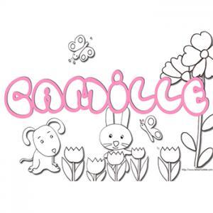 coloriage prénom Camille