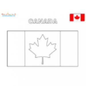 Coloriage du drapeau du Canada