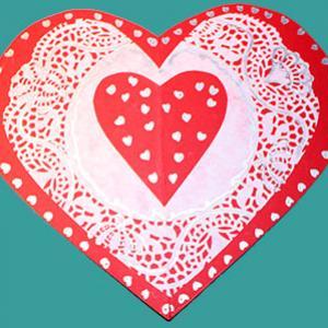 Carte coeur saint valentin
