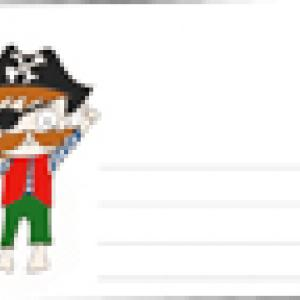 Enveloppe pour un anniversaire pirate