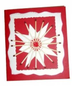 Fabriquer une carte de Noël allumettes