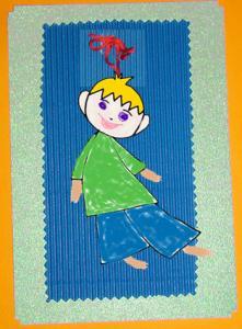 Coloriage d'une carte fille garçon