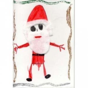 Carte de voeux Père Noël
