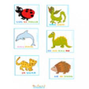 Cartes lecture des animaux à imprimer