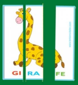 Carte de lecture du nom des animaux