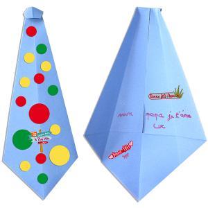 Pliage carte cravate origami fête des pères