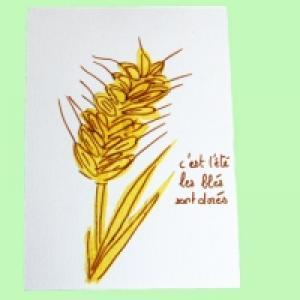Carte : épi de blé