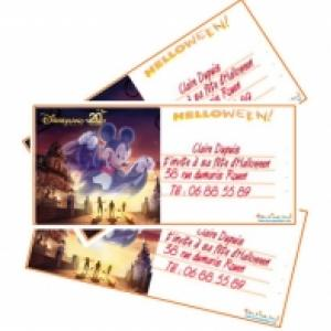 Cartes d'invitation Halloween Disneyland Paris