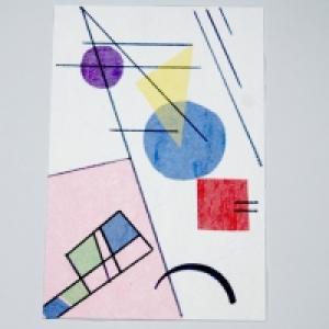 Carte Kandinsky : composition géométrique