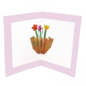 carte pop up fleurs