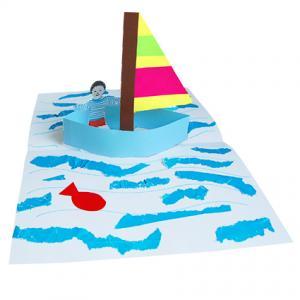 Carte pop-up voilier 3D