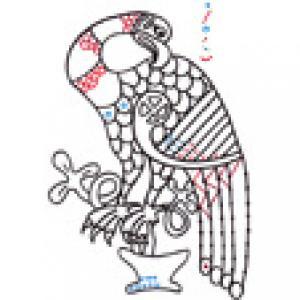 Imprimer l'exercice de graphisme celtique 4 : Aigle