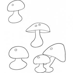 Activité des ronds sur les champignons à imprimer