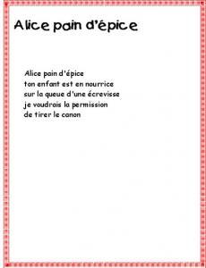 Alice pain d'épice