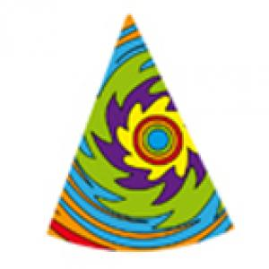 Imprimer le modèle de chapeau pointu n°4