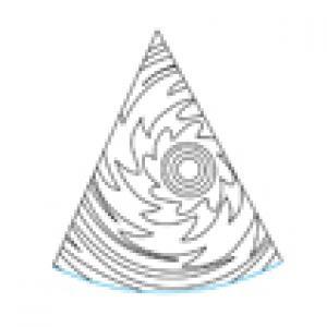 Modèle de chapeau pointu à colorier n°4