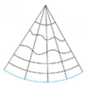 Imprimer le modèle de chapeau pointu à colorier n°1