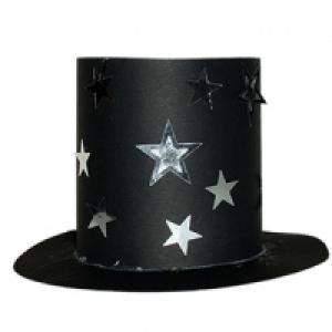 Chapeau de magicien aux étoiles