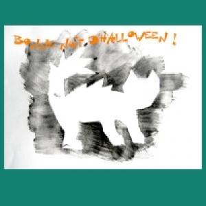 chat hirsute peint