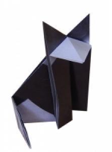 pliage d'un chat en papier