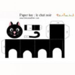 Chat noir à imprimer