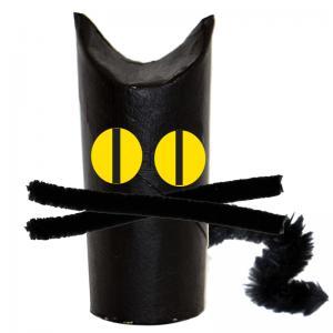 Chat de sorcière d'Halloween