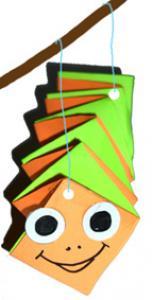 Fabriquer une marionnette chenille