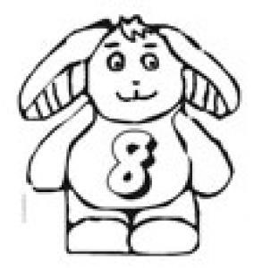 Coloriage du 8 dans le lapin