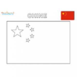 Coloriage du drapeau de la Chine