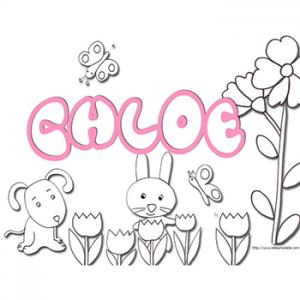 coloriage prénom Chloé