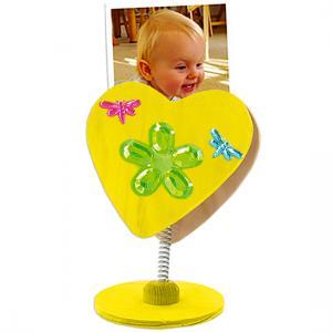 Clip coeur peint et décoré de strass