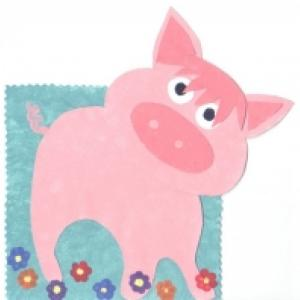 Cadre photo en forme de cochon