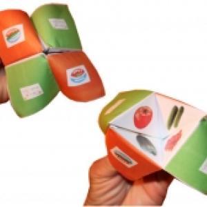 Cocotte en papier sur la tomate