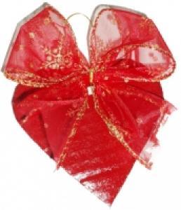 Décoration de sapin de Noël en forme de coeur noeud