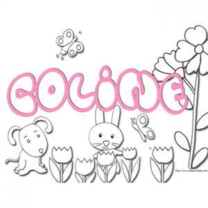 Coloriage Coline