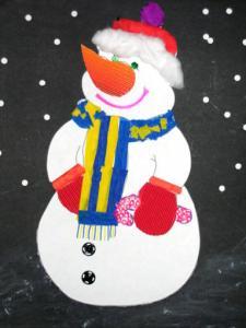 Explications pour réaliser un beau collage de bonhomme de neige