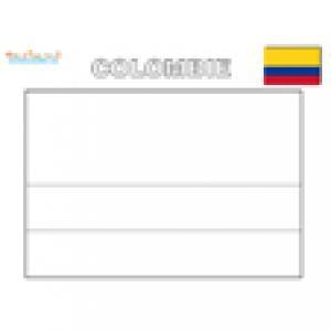 Drapeau de la Colombie à colorier