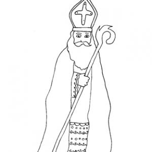 Coloriage saint Nicolas : dessin 1